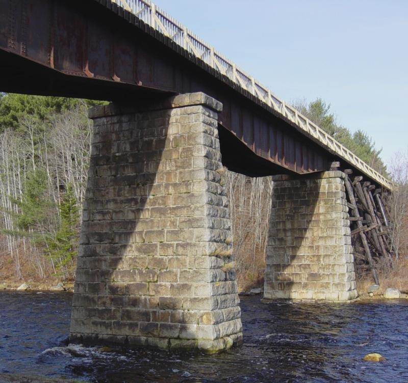 Martins River Bridge with new deck and handrail by Military Engineers