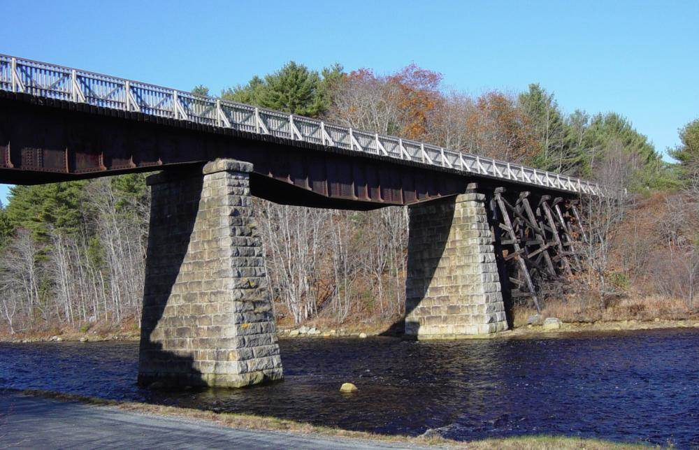 Martins River Bridge with deck and handrail by Military Engineers