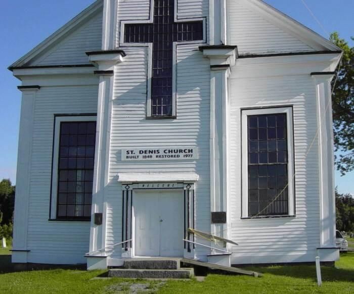 St. Denis church, built by Amos Seaman, 1848