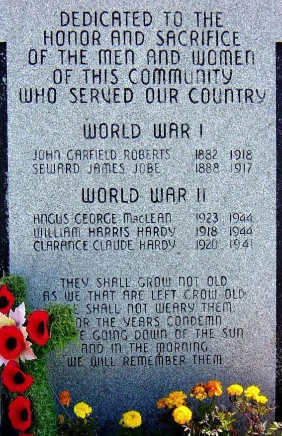 Ingonish: war memorial -2
