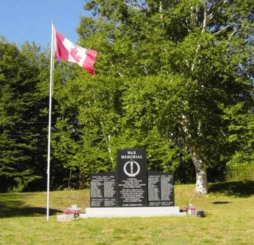 North River: war memorial, looking westward
