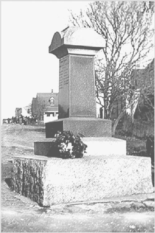New Ross war memorial monument, original location, before 1959