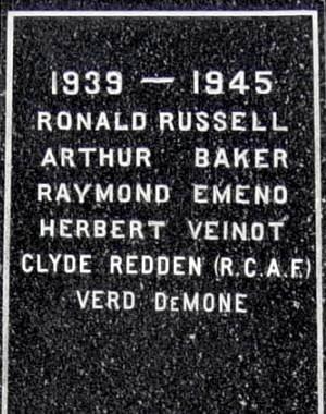New Ross war memorial monument, west face