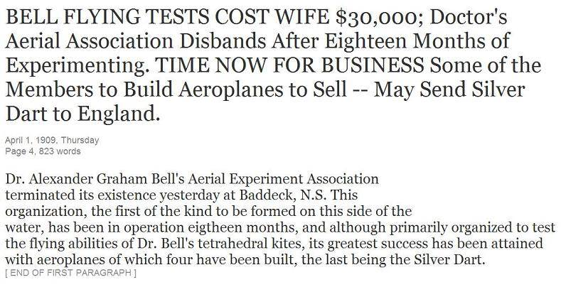 Clipping: Aerial Association Disbands, April 1909 -7