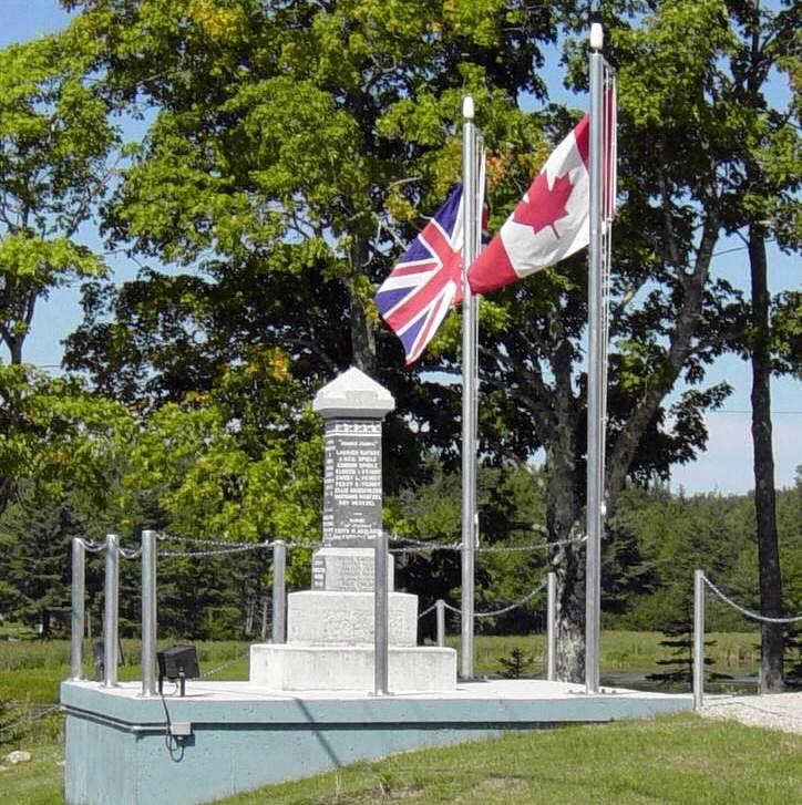 Parkdale-Maplewood monument: general view looking northward