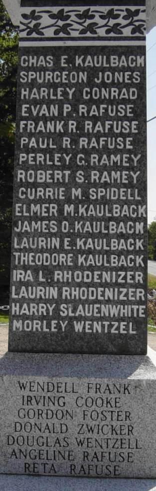 Parkdale-Maplewood monument, northwest face