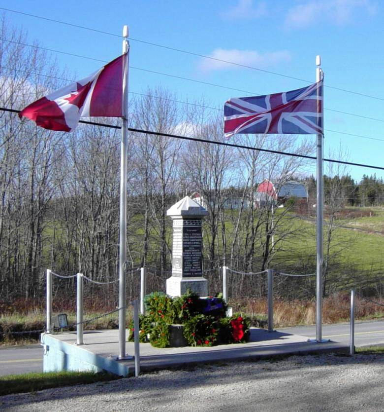Parkdale-Maplewood monument: after Rememberance Day 2005