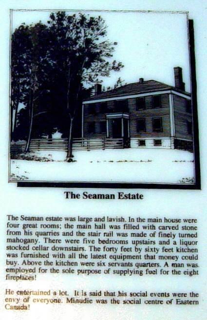 Minudie: Amos Peck Seaman interpretative panel