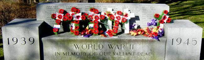 War memorial monument, Shelburne: 1939-1945 memorial