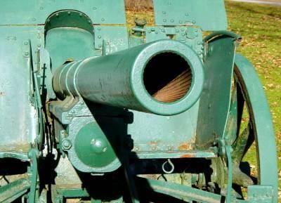 War memorial monument, Shelburne: east cannon