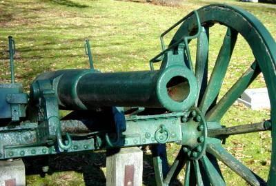 War memorial monument, Shelburne: west cannon