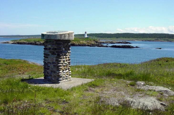 Joshua Slocum monument, general view looking northeast