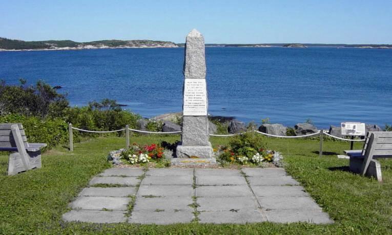 S.S. Atlantic memorial, Sandy Cove: looking east
