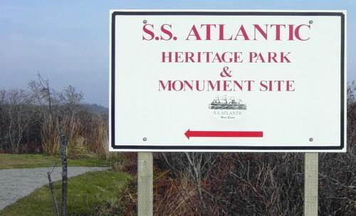 S.S. Atlantic memorial, Sandy Cove: entrance