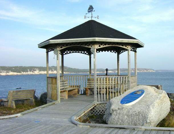S.S. Atlantic memorial, Sandy Cove