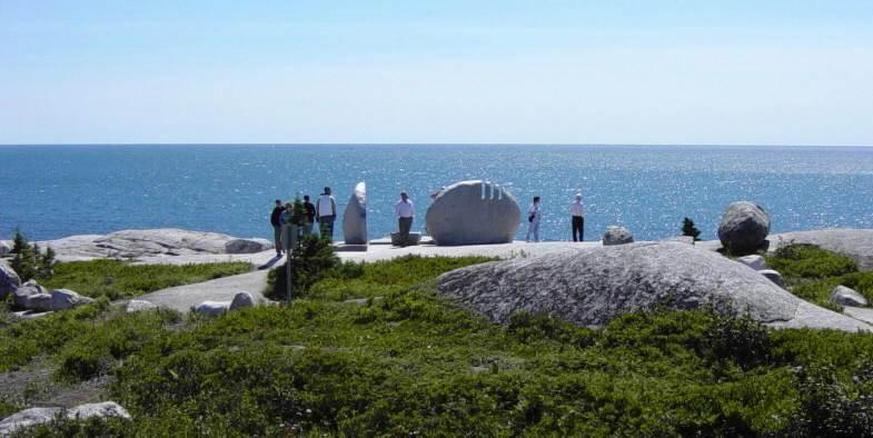 Swissair Flight 111 memorial, Whalesback. Looking southwest toward the crash site.