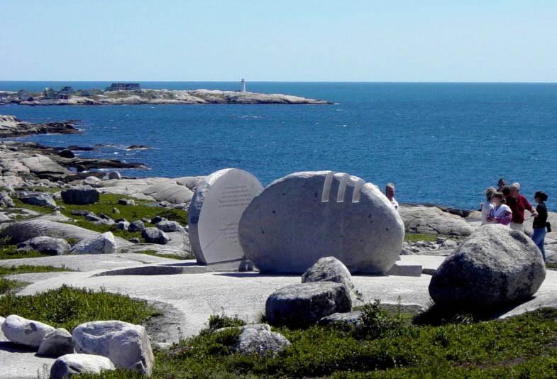 Swissair Flight 111 memorial, Whalesback, looking southeast.