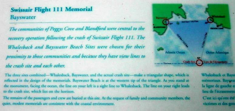 Swissair Flight 111 memorial, Bayswater