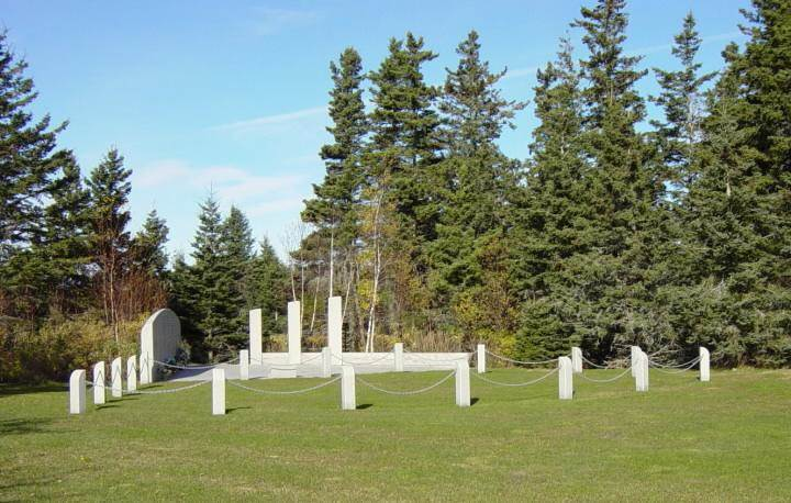 Swissair Flight 111 memorial, Bayswater: general view looking north-west