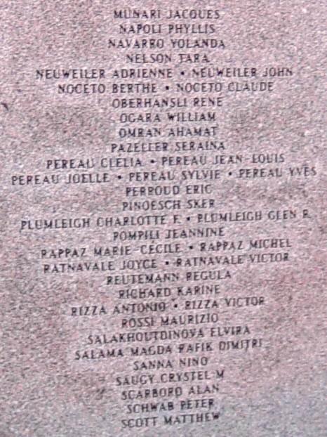 Panel six: Swissair Flight 111 memorial, Bayswater -16