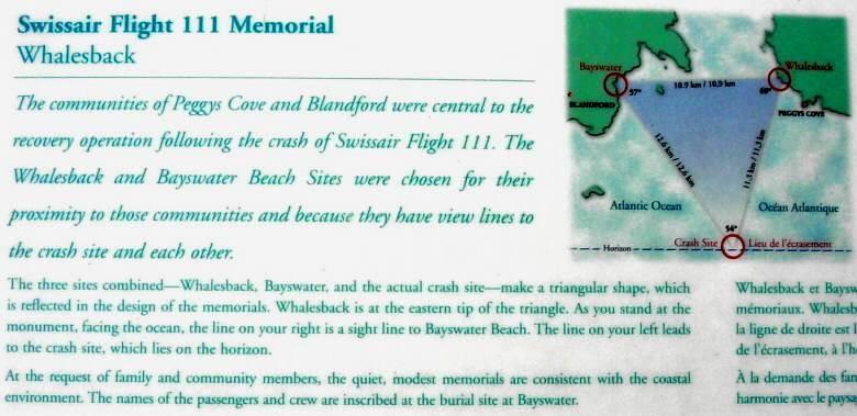 Swissair Flight 111 memorial, Whalesback