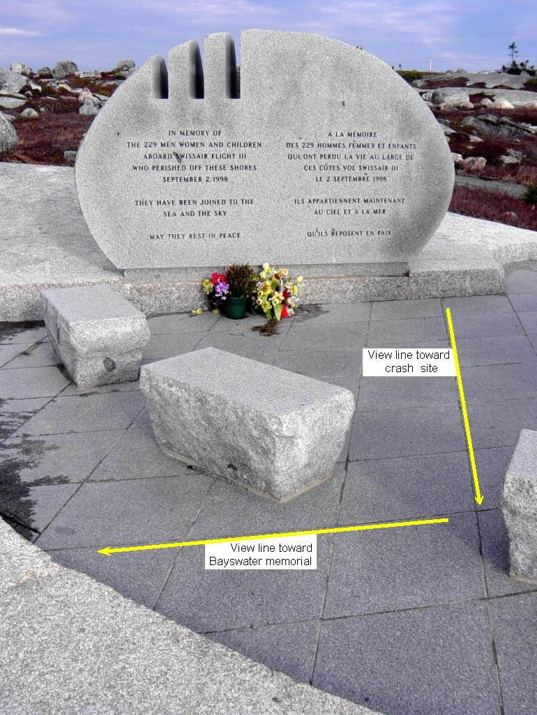 Swissair Flight 111 memorial, Whalesback.