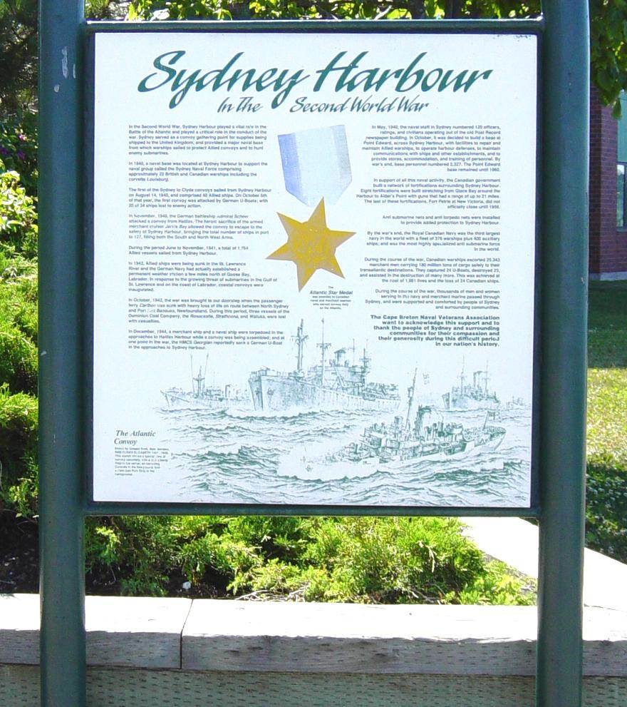 Sydney Harbour in WW2: Sydney Boardwalk interpretative panel