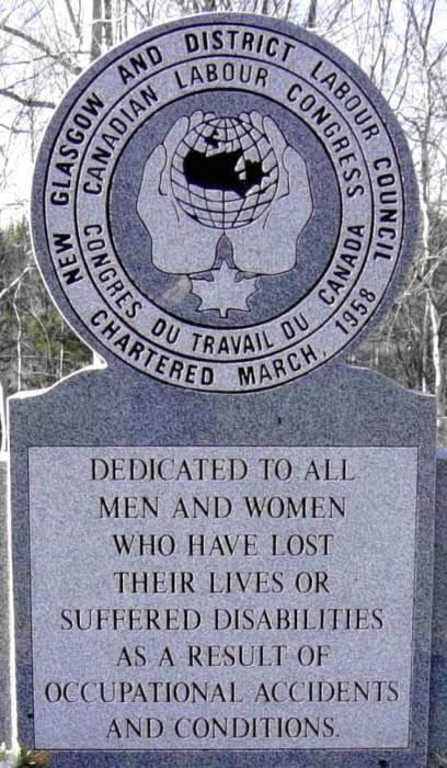 Trenton: Steeltown Centennial Park, workers monument -1