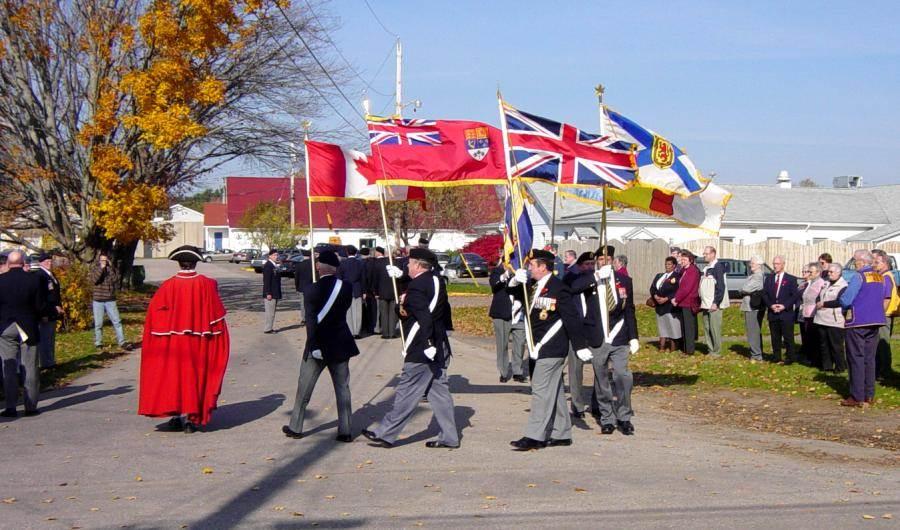 Kingston: Veterans Lane military memorial, unveiling ceremony