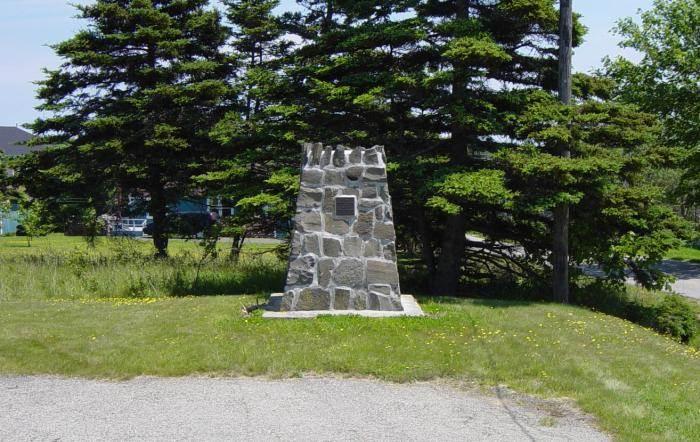Nova Scotia: Westport monument, west face