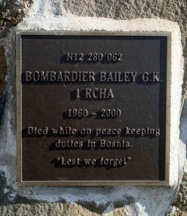 Nova Scotia: Westport cenotaph, west face