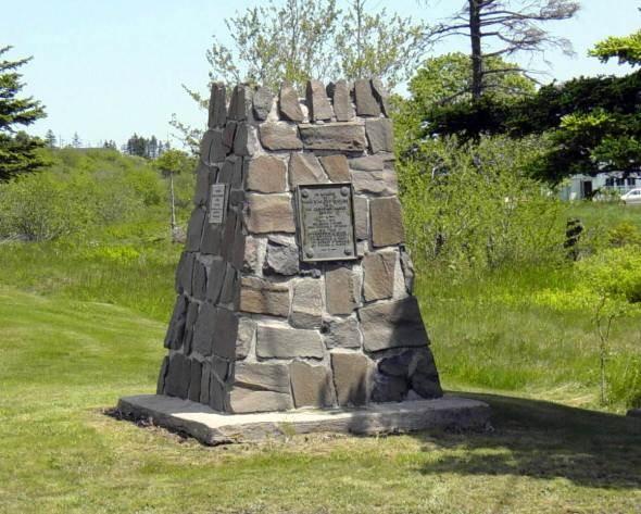 Nova Scotia: Westport monument, general view looking north