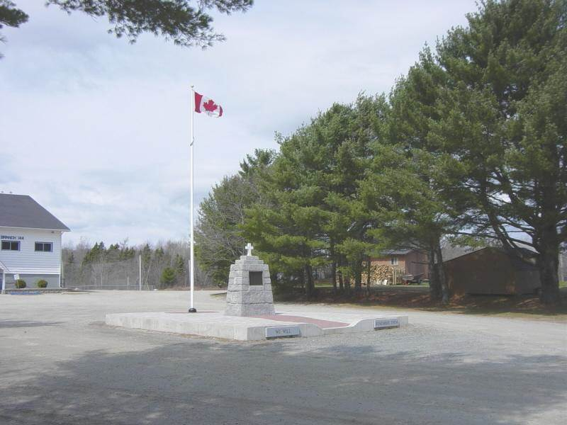 War memorial, Western Shore: plaque