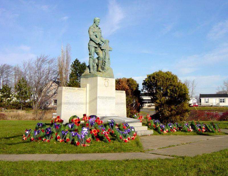 Westville: war memorial, after Rememberance Day 2005