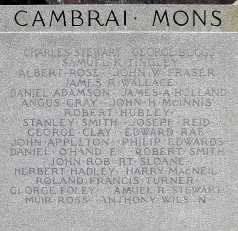 Westville: war memorial front, south panel