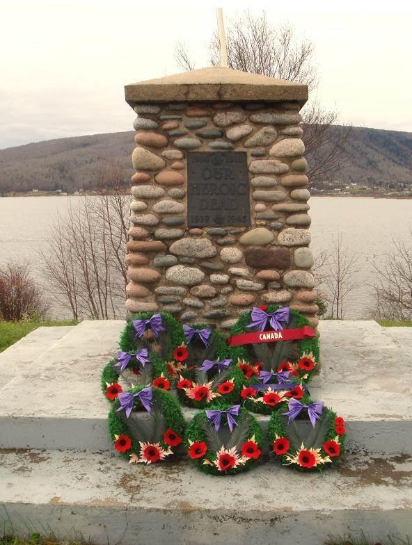 Whycocomagh, Nova Scotia: war memorial monument