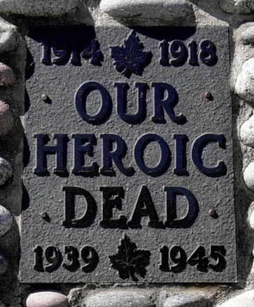 Whycocomagh, Nova Scotia: war memorial