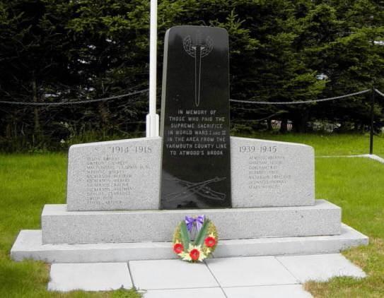 Woods Harbour: war memorial front