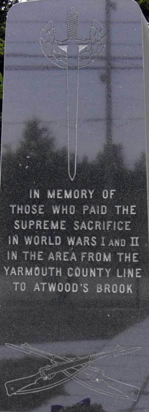 Woods Harbour: war memorial center panel