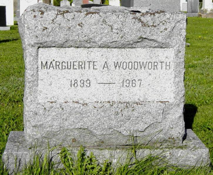 Marguerite Woodworth tombstone